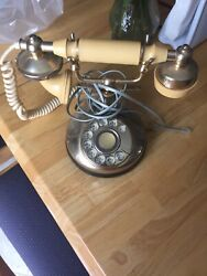 Vintage Bell Rotary Dial Corded Telephone Phone 1980s Atandt 1988 Antique Design