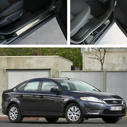 Threshold Protectors Door Sill Scuff Plate Steel Guards For Ford Mondeo Iv 2007-