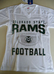 Girls Colorado State Rams Football Jersey Juniors White Official Ncaa Nwt