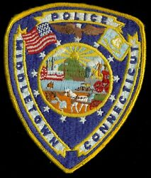 Middletown Connecticut Police Department Patch R-2