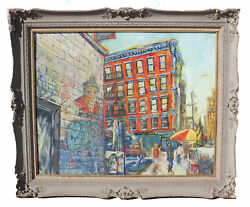 Original Voorhees Eleanor Nyc At Crosby St. Soho Oil On Masonite 24and039and039 X 30