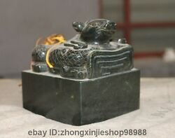 Chinese Royal Jade Jasper Carved Brave Troops Beast Dynasty Palace Seal Stamp