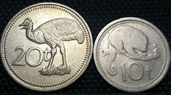 19761978 Papua New Guinea 10and20 Toea Coin 2pcs Fineplus Free 1 Coin D2206