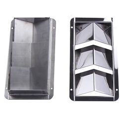 Pair Boat Louver Vent Marine 3 Slots Vent Stainless Steel 8-1/4 X 4-3/8