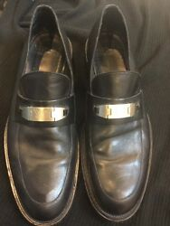 Vintage 90andrsquos Versace Menandrsquos Black Loafers Shoes Size 48 Eur 14 Usa Jeans Coture