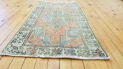 Beautiful Vintage 1950-1960s Wool Pile Vegy Dye Oushak Rug 1andrsquo7andrdquox 3andrsquo3andrdquo