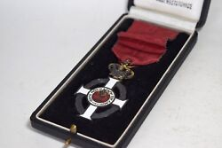 Antique Ww1 Greek Military Cross Royal Order Medal King George 1915 With Box