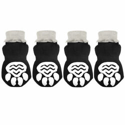 Non Slip Dog Socks Knitted Pet Puppy Shoes Paw Print for Small Medium Large Dogs