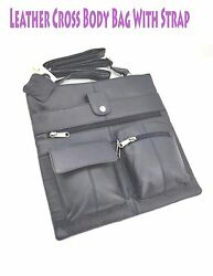 Women Leather Cross Body Bag Travel Messenger Strap Multiple Compartments Bag $24.99