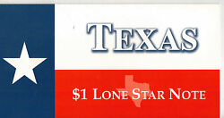 Texas Star Note Lone Star Unc 2001 1 Dallas From The Bep T-107