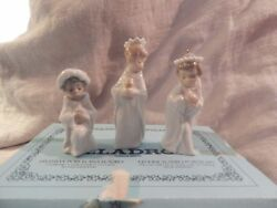 Lladro Three Kings Wise Men Ornaments With Box 5729 Ornament Nativity Christmas