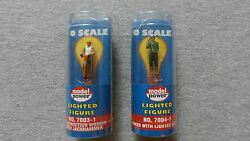 Model Power O Scale Lighted Figures Set Of 2 7003-1 And 7004-1 Ts