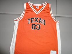 Ncaa Texas Longhorns Sewn Basketball Big 12 Conference Jersey Mens 2x Excellent