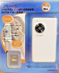 New CRAIG Digital Camcorder with Camera CCR9002 LCD Display Plus a 2GB SD Card