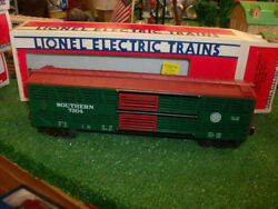 Lionel Trains No. 7304 F.a.r.r. 4 Southern Railroad Double Door Stock Car 1983