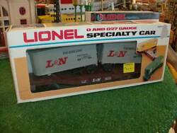 Lionel Trains 9222 L And N Flat Car With Trailers Niob 1983-84 Sharp