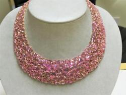 LIQUIDATION CLEARANCE!NWT $200000 GORGEOUS 18KT LRG RARE PINK SAPPHIRE NECKLACE