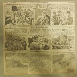 309 Secret Agent X-9 Dailies By Mel Graff From 1951 Size 3 X 8 Inches Rare