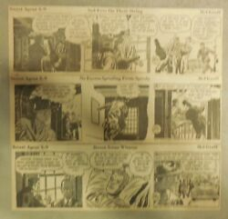 312 Secret Agent X-9 Dailies By Mel Graff From 1952 Size 3 X 8 Inches Rare