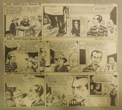 310 Dan Dunn Dailies By Norman Marsh From 1942 Size Large 3 X 10 Inches Rare