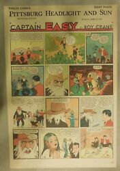 48 Captain Easy Sunday Pages By Roy Crane From 1940 Tabloid Size Pages