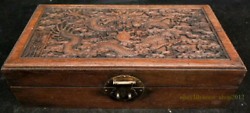 31.5CM collect China Old Wood Box Handmade A pair Gild Bracelet jewelry AZAO
