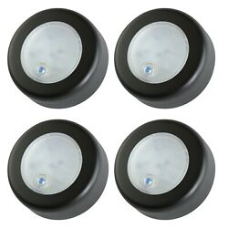 4 Pack 3 Push On-off 9 Smd Black Accent Ceiling Dome Light Dc12v Marine