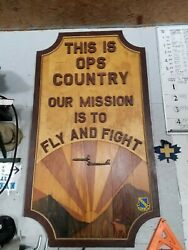Custom Military Usaf Loring Afb Officer's Club Wood Sign - Kc 135 And B-52 W Moose