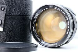 Canon 50mm F095 For Canon 7 In Good Condition With Lens Case