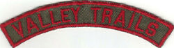 Boy Scout Valley Trails Council Khaki And Red 1/2 Strip