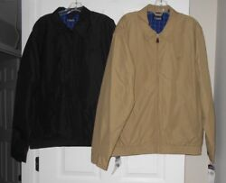 Chaps Replenishment Black Or Crawford Tan Microfiber Lined Jacket Asst Sizes Nwt