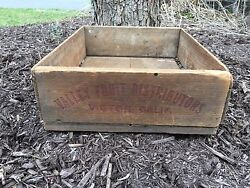 Vintage Valley Fruit Victor California Wooden Wood Crate Box Antique Rare