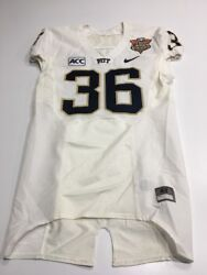 Game Worn Used Pittsburgh Panthers Football Jersey 36 Little Caesars Pizza Bowl