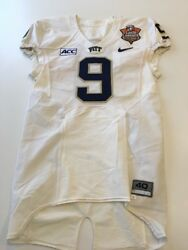 Game Worn Used Pittsburgh Panthers Football Jersey 9 Little Caesars Pizza Bowl