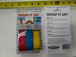 Airhead Wrap It Up Hook Loop Wraps 3-pack Red Yellow Blue Kwik Tek Wr-123