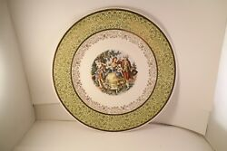 Vintage Royal China Warranted 22k Gold Cake Plate Colonial Couple