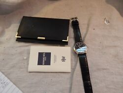 Menand039s Raymond Weil Watch Geneve With Case And Documentation Leather Band 5569