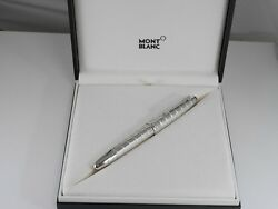 Montblanc Meisterstuck Solitaire Le Grand Platinum Plated Facets Fountain Pen F