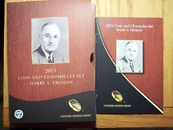 2015 P Harry Truman Presidential Coin And Chronicles Set Reverse Proof Silver Ax 1