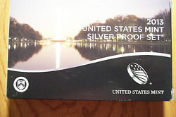 2013 Us Mint 14 Coin Silver Proof Set Sv8 Box Has Never Been Opened Low Mint 1