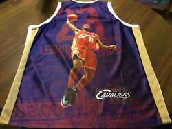 Very Rare Cleveland Cavaliers 23 Lebron James Picture Jersey Men's Size 54