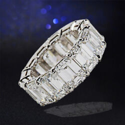 15.82 ct GIA Certified Emerald Cut Diamond Eternity Band DEF Color VS1 Clarity