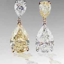 Incredible GIA certified Yellow and White Diamond Two Color Gold Earrings