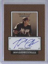 2005 Origins Old Judge Autographs Bronze Border #MC MIGUEL CABRERA #3 5 rare