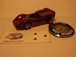 Hot Wheels Red Line Mclaren M6a In Red Orig Owner No Play Orig Sticker Sheet