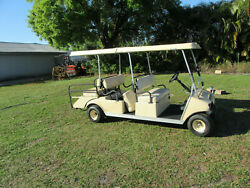 Club Car Villager 6 Passenger Transport Golf Cart Gas Engine