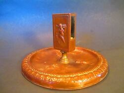 Antique Match Box Holder Angel / Putti  Fire Place Tool - Candles And Matches