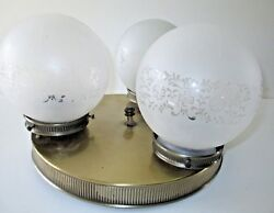 Modern Ceiling Light Mid Century Etched Frosted Glass Ball Shades Round Circular