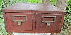 Oak File Cabinet Index Card Globe Recipe Box Antique Library Country Kitchen