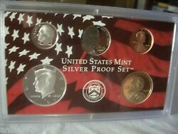 2008 S Us Mint Silver Partial Proof Kennedy Dime Dollar Nickel Cent Cameo Set